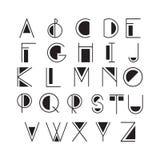 Cienki kreskowy styl, liniowa nowożytna chrzcielnica, typeface robić w minimalistic stylu ilustracja wektor