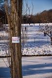 cienki lodowy znak Zdjęcia Royalty Free