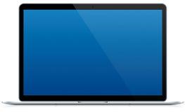 Cienki (Szczupły) laptop Odizolowywający Zdjęcie Stock