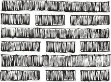 Cienkiej pióra Doodle linii Śmiałej pełni Prostego Bezszwowego wektoru Deseniowy lub Bezszwowy Wektorowy tło Zdjęcia Stock