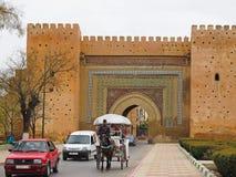 Ścienna brama w Meknes Zdjęcie Royalty Free