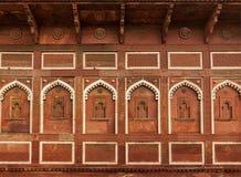 Ścienna dekoracja w Agra forcie. Agra, India Obrazy Royalty Free