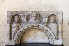 Ścienna dekoracja w castelvecchio kasztelu w Verona Obrazy Royalty Free