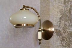 Ścienna nocy lampa Fotografia Stock