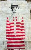 Ścienna sztuka 1960 ` s moda Zdjęcia Royalty Free