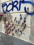 Ścienne mrówki w Barcelona Obrazy Stock