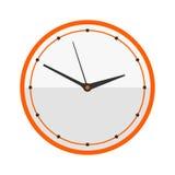 Ściennego zegaru okręgu znak z chronometru pointeru narzędzia i ostatecznego terminu stopwatch prędkości biura alarma zegaru minu Zdjęcia Royalty Free