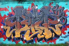 Ścienni graffiti Zdjęcia Royalty Free