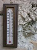 Ścienni termometry fotografia stock