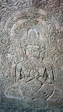 Ścienny cyzelowanie przy Angkor Wat Obrazy Stock