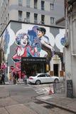 Ścienny graffity w Soho terenie Hong Kong Obraz Royalty Free