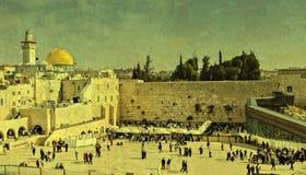 ścienny Jerusalem western Obrazy Royalty Free