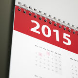 2015 Ścienny kalendarz Obraz Stock