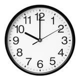 Ścienny zegarek odizolowywający na białym tle Zdjęcia Royalty Free