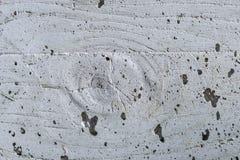 Ścienny znaczek w betonowej budowie, gnarl i drewno jak tupocze Zdjęcia Stock