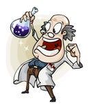 Científico con la invención. ilustración del vector
