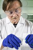 Científico de la química Imagen de archivo libre de regalías