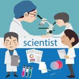 Científico del laboratorio de ciencia de la investigación Imagen de archivo