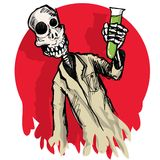 Científico del zombi de la historieta Imagen de archivo libre de regalías