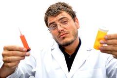 Científico enojado Foto de archivo libre de regalías