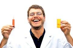 Científico enojado Imágenes de archivo libres de regalías