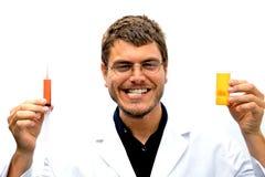 Científico enojado Imagen de archivo libre de regalías