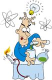 Científico loco ilustración del vector