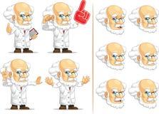 Científico o profesor Customizable Mascot 4 Imágenes de archivo libres de regalías