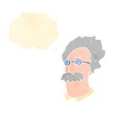 científico retro de einstein de la historieta ilustración del vector