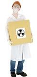 Cientista com caixa Foto de Stock