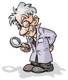 Cientista com uma lupa ilustração stock