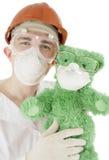 Cientista com urso Imagens de Stock Royalty Free