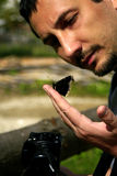 Cientista das borboletas Fotografia de Stock Royalty Free