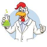 Cientista de Rooser com garrafa Fotografia de Stock Royalty Free