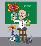 Cientista de Toonimal ilustração do vetor