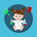 Cientista do bebê Imagem de Stock Royalty Free