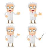 Cientista engraçado dos desenhos animados que dá a apresentação Imagem de Stock Royalty Free