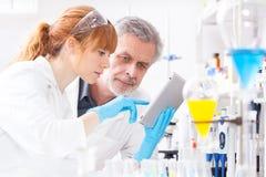 Profissionais dos cuidados médicos no laboratório. Foto de Stock Royalty Free