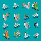 Cientista Icons Set Imagens de Stock Royalty Free