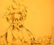 Cientista louco ilustração stock