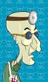 Cientista louco do personagem de banda desenhada Fotografia de Stock