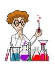 Cientista no laboratório ilustração do vetor
