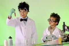 Cientistas loucos no trabalho Fotografia de Stock