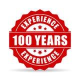 Cientos años de la experiencia de icono del vector Imagen de archivo libre de regalías