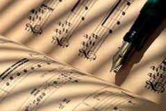 Cientos años de la música de hoja Foto de archivo