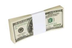 Cientos billetes de banco del dólar Imágenes de archivo libres de regalías