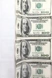 Cientos billetes de banco del dólar Fotos de archivo libres de regalías