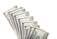 Cientos billetes de banco del dólar Imagenes de archivo