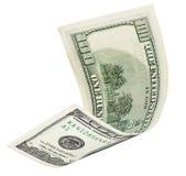 Cientos billetes de banco del dólar con la trayectoria de recortes Fotos de archivo