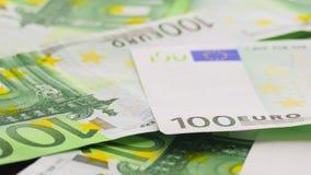 Cientos billetes de banco euro metrajes
